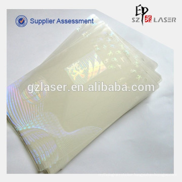 Supply hologram custom id card overlay pouch for 2014 Korea Asian Para Games