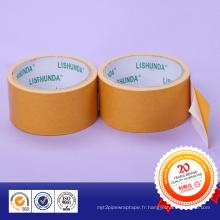 Ruban adhésif pour les surfaces en pâte rugueuse avec adhésif double face