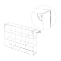 Wall Mounted Clear Acrylic Freestanding Organizer Rack