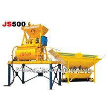 Высокопроизводительный двухвалковый бетономешалка JS500