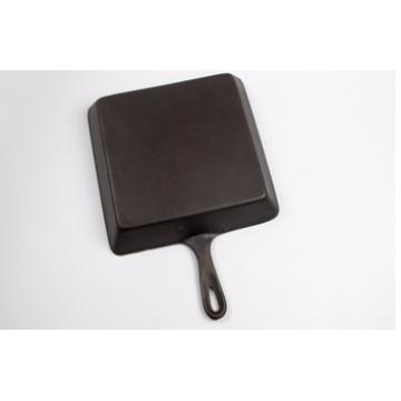 Mini sarten de hierro fundido cuadrado