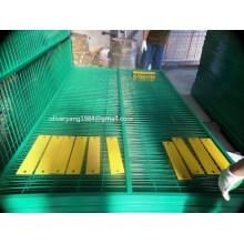 Panneau de clôture soudé temporaire de construction de 6 po x 10 pi avec tube carré de 1,5 po galvanisé ou peint