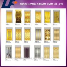 Puerta del elevador Diseñado Panel de acero inoxidable de elevación de patrón, panel de la puerta del ascensor