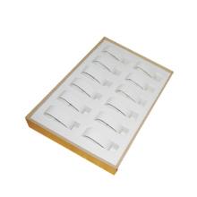 Stapelbares Lucite Schmucksache-Leder 12 Uhr-Kissen-Behälter