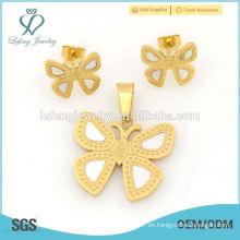 La mejor joyería fija la tienda para los diseños de acero de la mariposa 316l venta caliente
