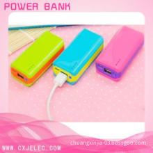 Long lasting colorful power bank 5200mah