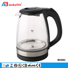 Anbolife 2018 new innovation 1.7L keep long warm whistling tea electric glass kettle with heating element