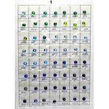 Диаграмма цвета стекла B1