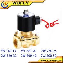 Válvula de solenoide de latón de 12V / 24V de CC de bajo precio de 2/2 vías normalmente cerrada Temperatura normal Presión media