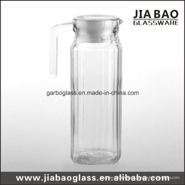 Clear Glass Pitcher with Cover