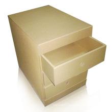 La fábrica suministra la caja de cartón ondulada de la exhibición con los cajones, caja de exhibición de PDQ