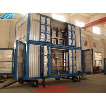 Unité de pesage et d'ensachage mobile en conteneur POUR PORT
