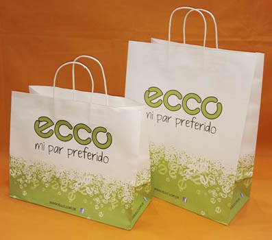 Shopping bag in carta kraft bianca-ECCO