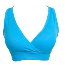 As mulheres lazer Fitness sem costura dupla camadas Bras