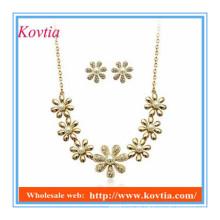 Österreichische Perle Schneeflocke Design Kette Halskette und Ohrringe gesetzt für Braut