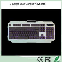 Más barato retroiluminación diseño ergonómico LED teclado de computadora juego (KB-1901EL)