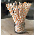 Eco Food Grade wholesale Wave point Design biodegradable paper drinking straws flexible