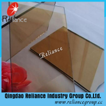 Euro-Bronze Color Painted Float Glass for Decoration