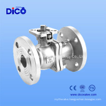 API CF8/CF8m 2PC Flange Ball Valve with Plate Form