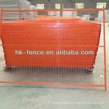6ftx9.5 футов оранжевый цвет ПВХ покрытием Канада временный забор панелей (ХТ-001)