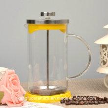 Glas und Edelstahl Französisch Presse Kaffeekanne