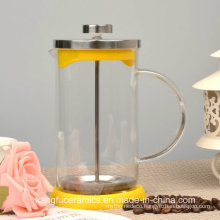 Glass and Stainless Steel French Press Coffee Pot