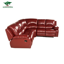 Leather Manual Electric Recliner Massage Chinese Top Grain + PVC Half Leather Corner Home Modern Sofa