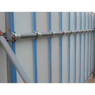 Стальной забор для строительной площадки