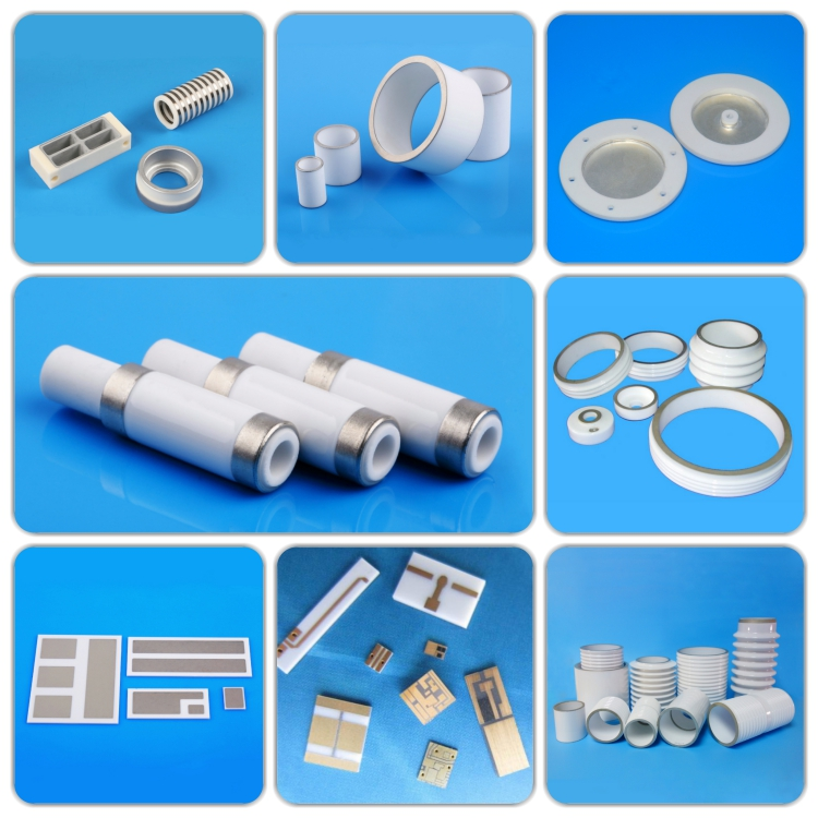 Metallized ceramic components