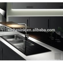 O SUS 304 de aço inoxidável moderado relativo à promoção moderou a única bancada da cozinha da bacia