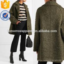 Caban Oversized Wool-blend Boucle Coat Fabricación Venta al por mayor Moda Mujeres Ropa (TA3025C)