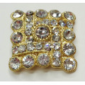 Square Shapes Rhinestone Shoe Clips