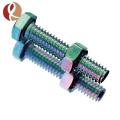China fornecedor de parafusos de flange de titânio m6 * 12 parafuso de carruagem