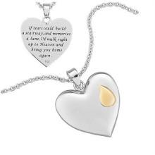 2015 s.steel jóias colar vners colar de pingente de coração para senhoras