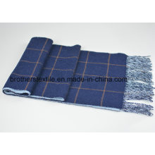 Wolle und Cashmere Blended Plaid Schal Double Face Schal H16-04