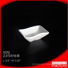 plaque de Chine wholesale 2.5 pouces vaisselle fine sauce en céramique