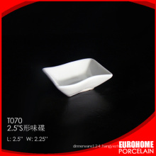 china wholesale 2.5 inch dinnerware fine ceramic sauce plate