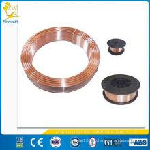 Alambre de soldadura sólido con revestimiento de cobre ER70S-6