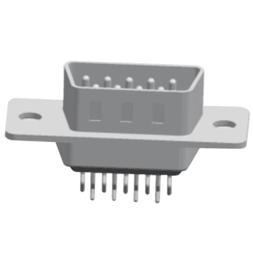 D-SUB PCB Male Dual Row Straddle (gestempelde pin)