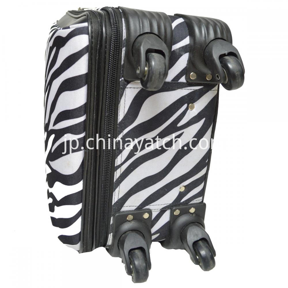 Zebra Pattern Wheeled Trolley Luggage