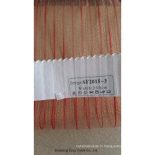 Tissu à rideaux transparents pour mode Organza 20153