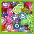 top quality food grade 4*7mm silicone beads acrylic alphabet letter beads