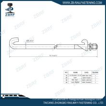 """1-1/4"""" Single end gauge rod for standard gauge"""