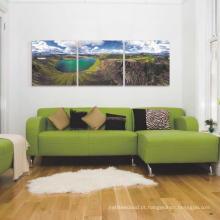 Projetos de alta qualidade da pintura da tela da decoração da casa Folhas de cama
