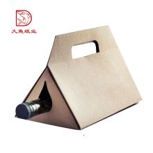 Hecho en China desechable triángulo caja de regalo de embalaje para el vino