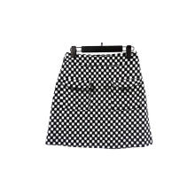 Black And White Dot Printed Women's Skirt