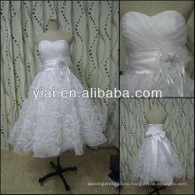 JJ2796 Organza Puffy longitud vestidos de boda cortos Sexy 2013