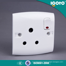 Igoto British Type E15-N 15A Socket and Switch with Neon