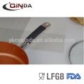Revestimento cerâmico de indução Tampa de vidro silício e SS Handle saute pan