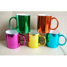 Tasse en céramique métallique, tasse en céramique de couleur métallique